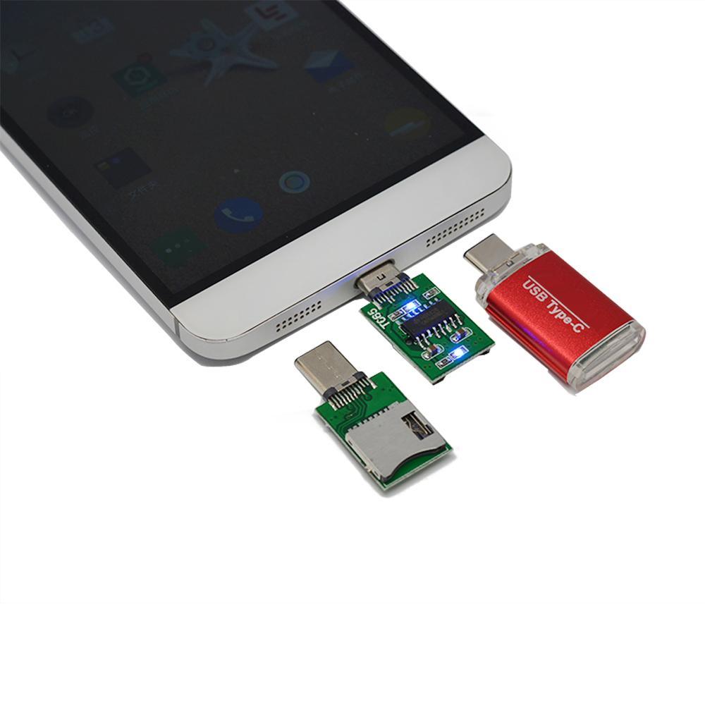 USB 3.1 Type C Card Reader OTG Card for Micro SD MacBook/Mac air/Pro PC