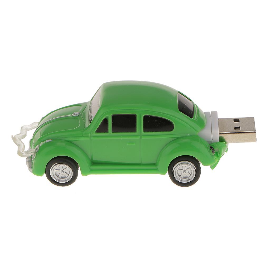 16GB USB Flash Drives Green Beetle Car Style U Disk