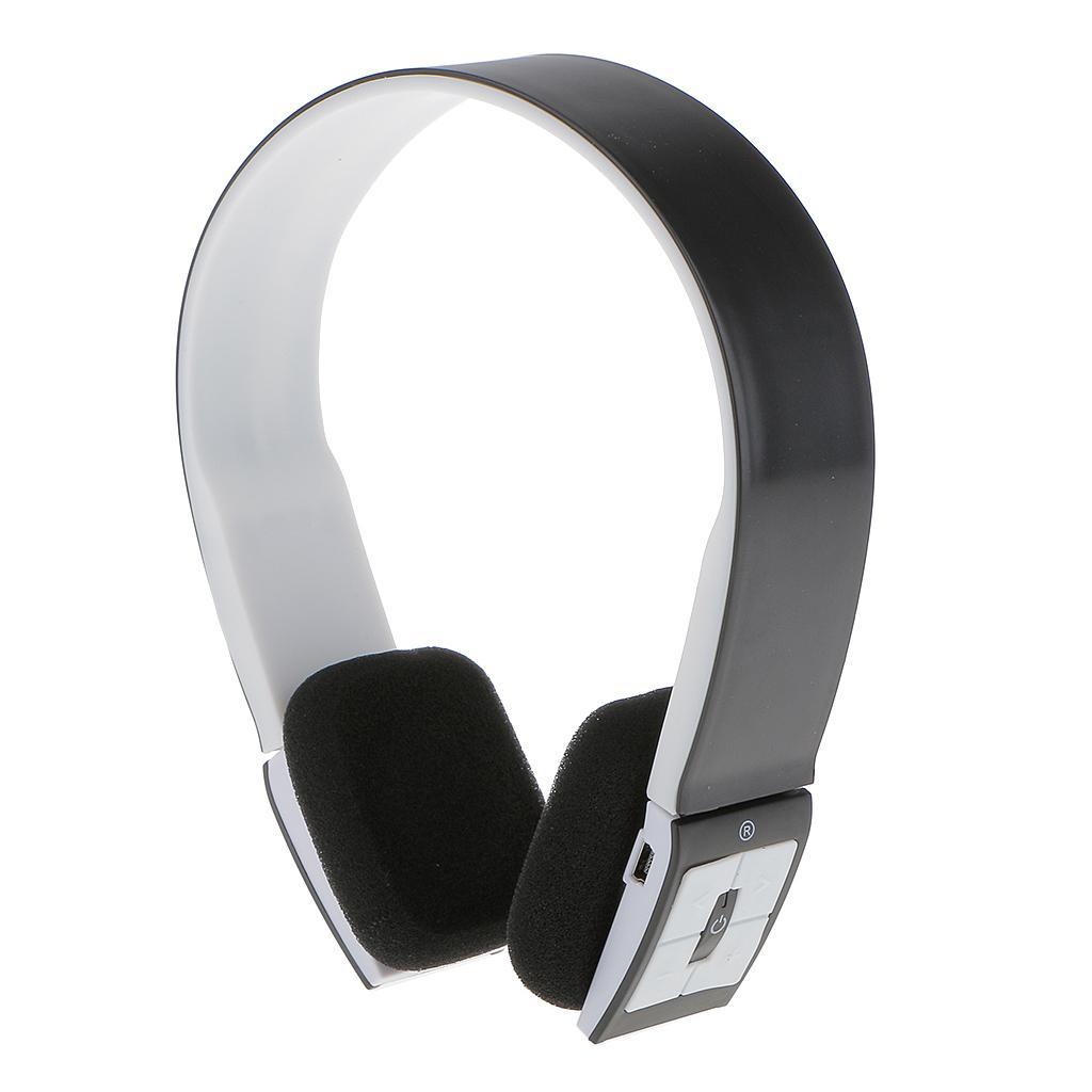 Wireless Bluetooth Stereo Headset Headphone Earphone for Smart Phone Black