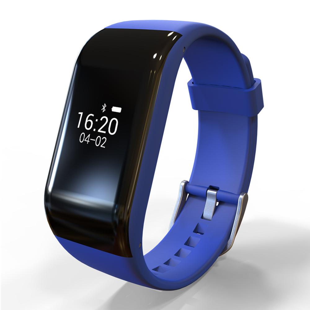 R1 Bluetooth BT4.0 Smart Sport Waterproof Watch Heart Rate Monitor blue
