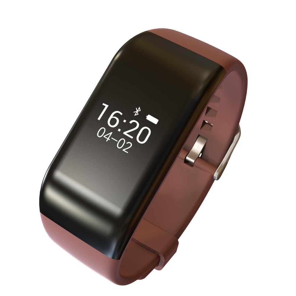 R1 Bluetooth BT4.0 Smart Sport Waterproof Watch Heart Rate Monitor brown
