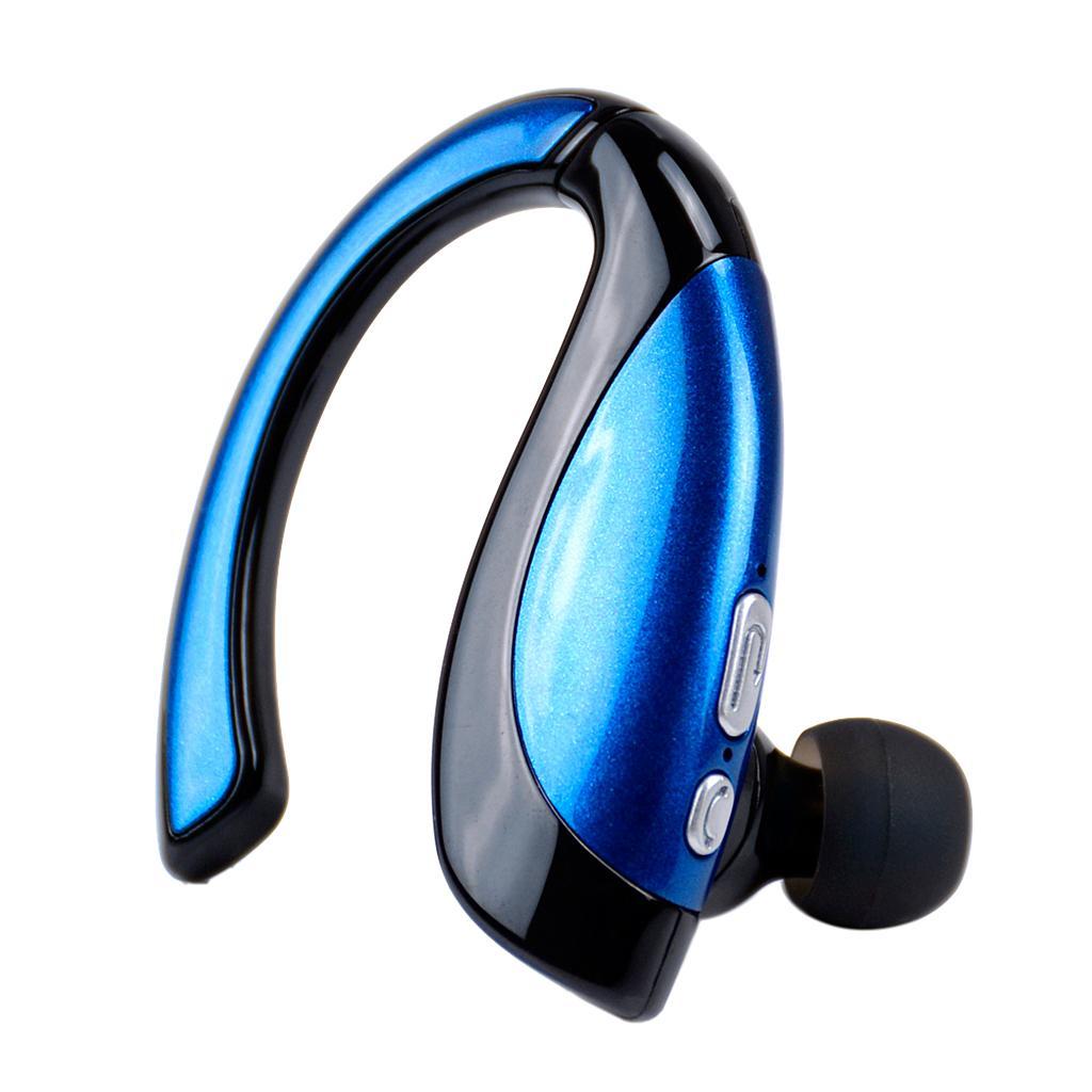X16 Wireless Bluetooth Headphone Ear Hook Voice Control Blue
