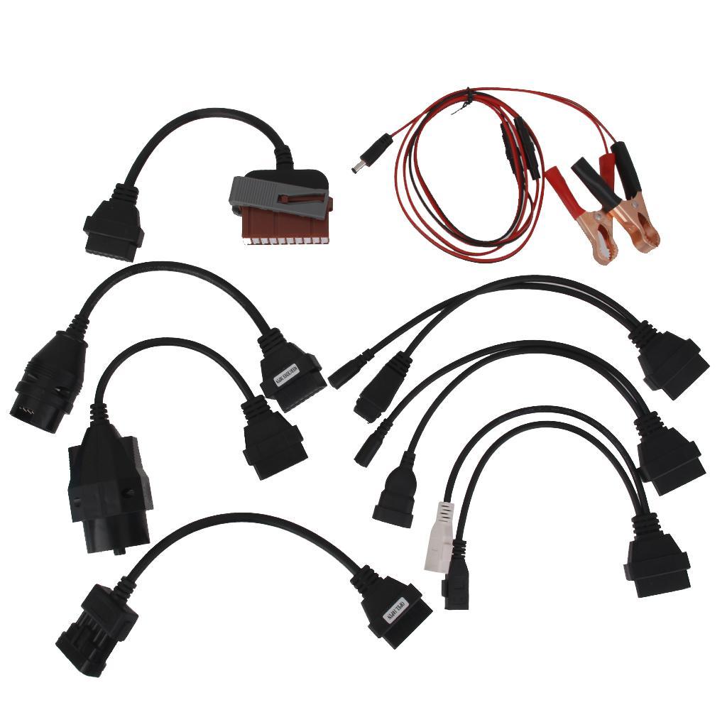 Car Adapter Cables OBD2 OBDII Connector For Car Diagnostic Tools Set 8