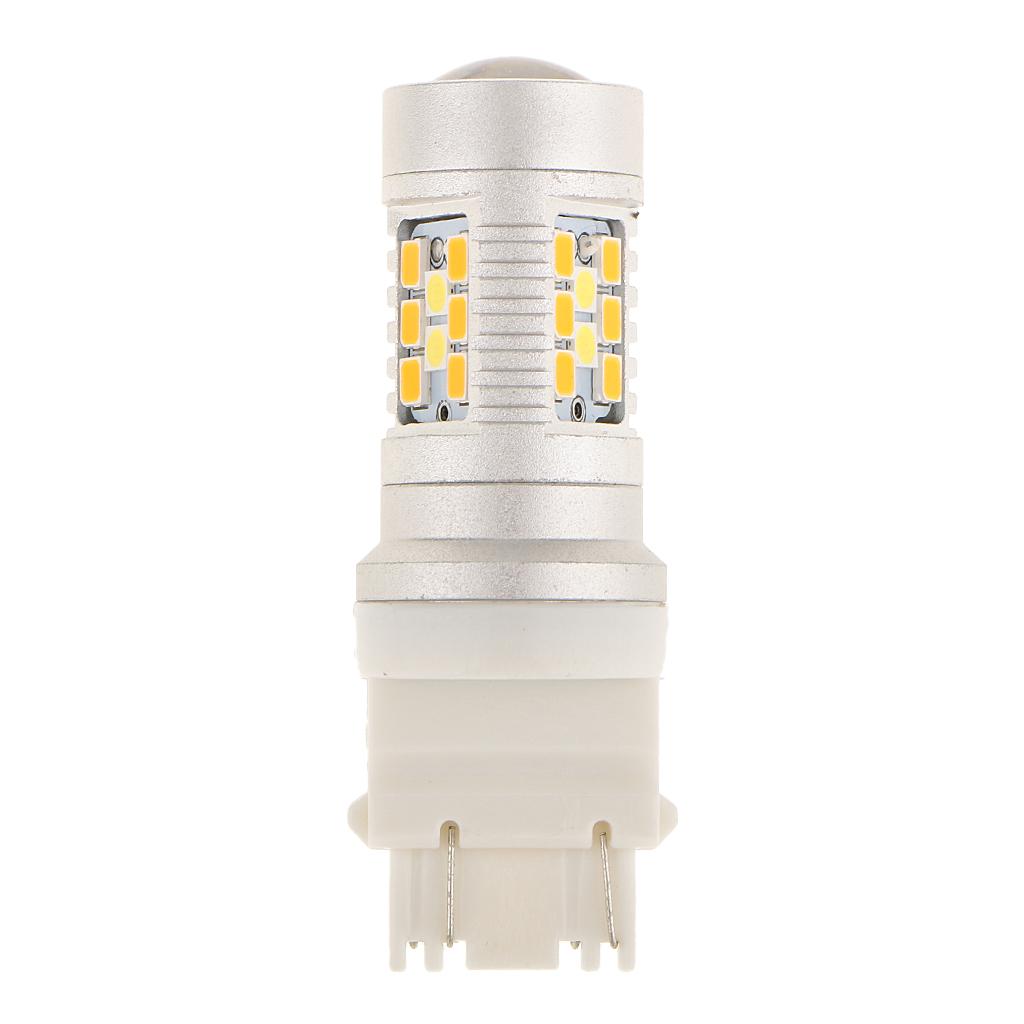 Dual Color Amber White Switchback 3157 LED Bulb Turn Signal Light 28 PCS SMD
