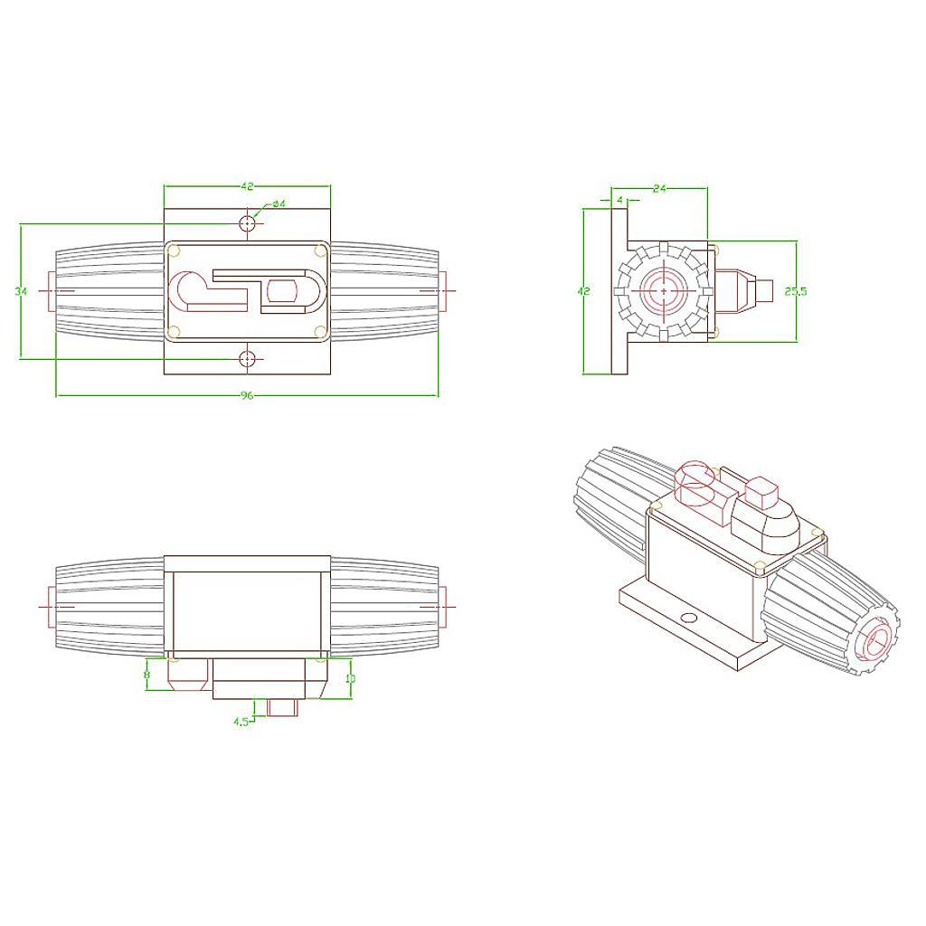 12V-24V Inline Auto Circuit Breaker 50A Manual Reset