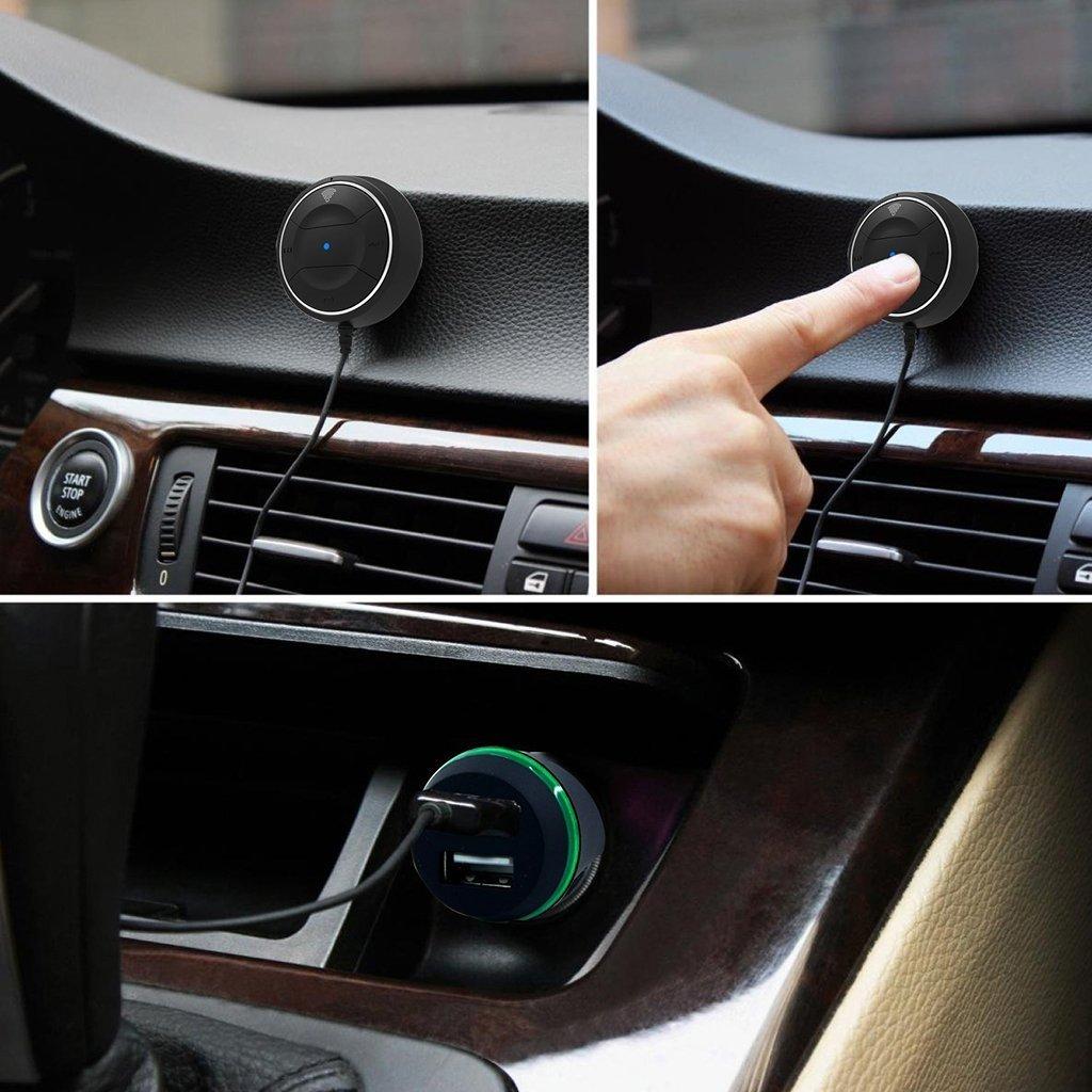 NFC Wireless Bluetooth Stereo Music 3.5mm Adapter Car Handsfree Mic Receiver