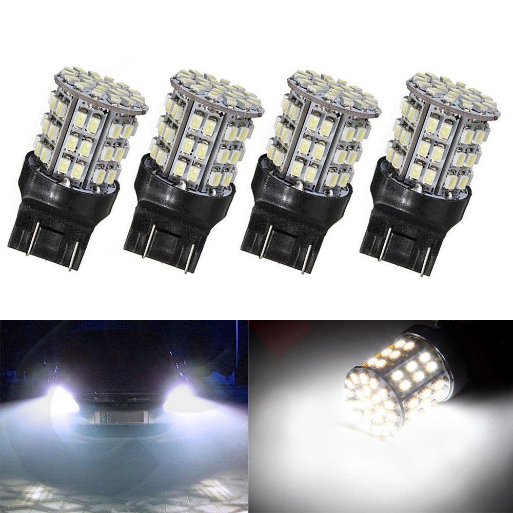4x T20 7440 7443 64 SMD White 6000K Reverse Brake Tail LED Bulb Light Lamp