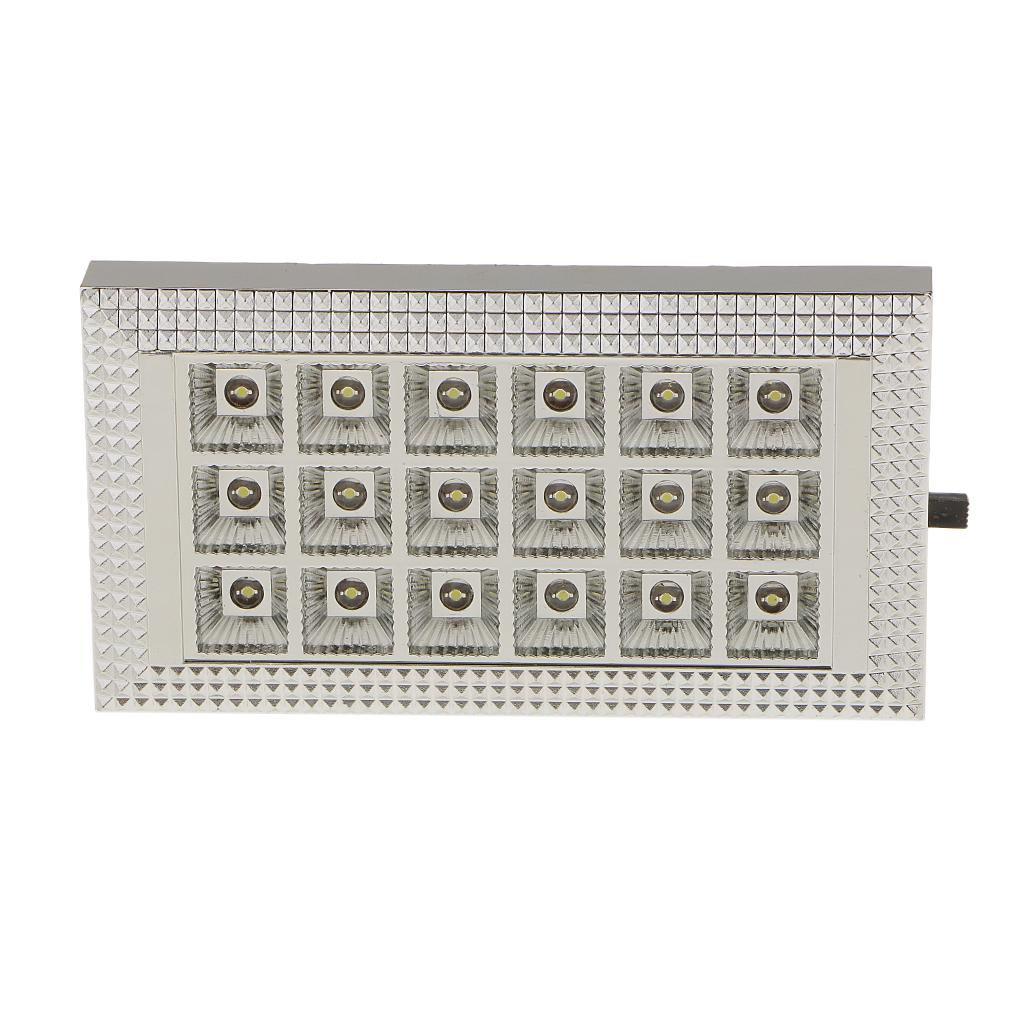 White 18 LED Car Vehicle Dome Roof Ceiling Interior Light Read Lamp DC 12V