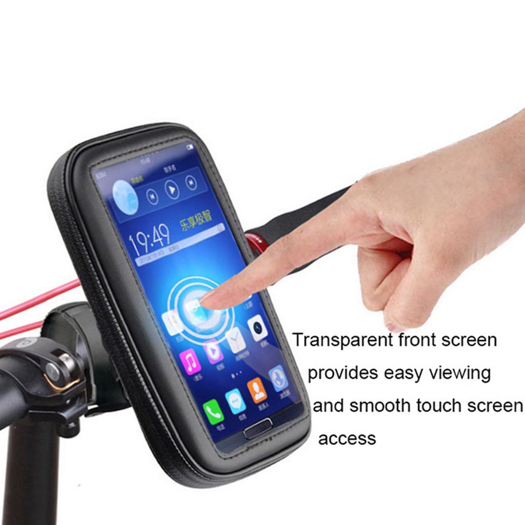 Bike Motorcycle Waterproof Phone Case Bag with Handlebar Mount Holder XL