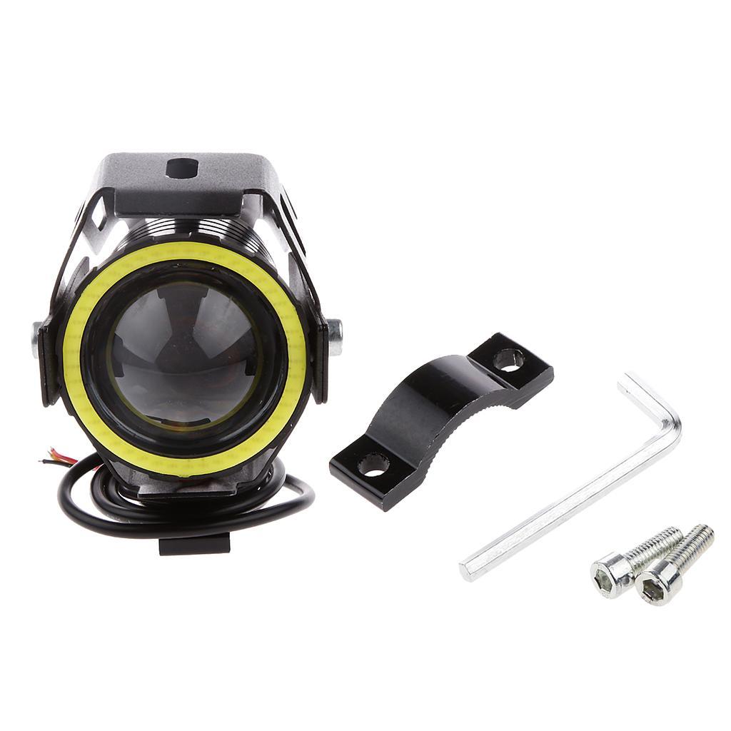 125W 3000LM U7 LED Off-road Motorcycle Driving Fog Lamp Spot Head...