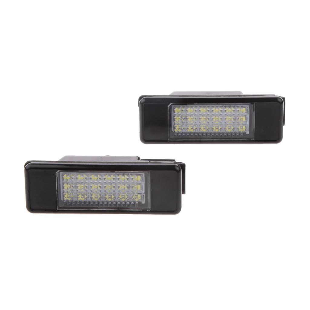 LED License Plate Light 18-SMD Day White for PEUGEOT
