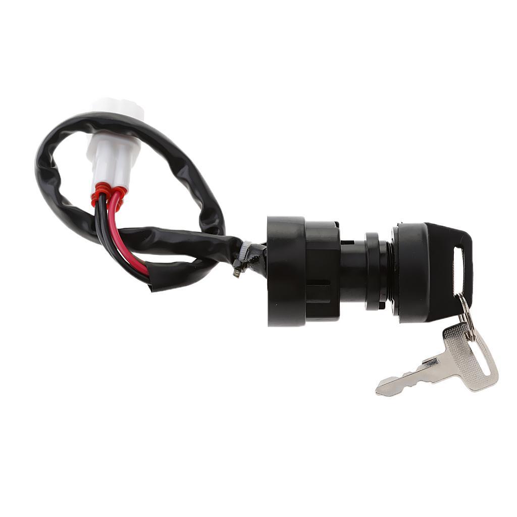 Black Ignition Key Switch for YAMAHA WARRIOR 350 YFM350 1996-2001 ATV