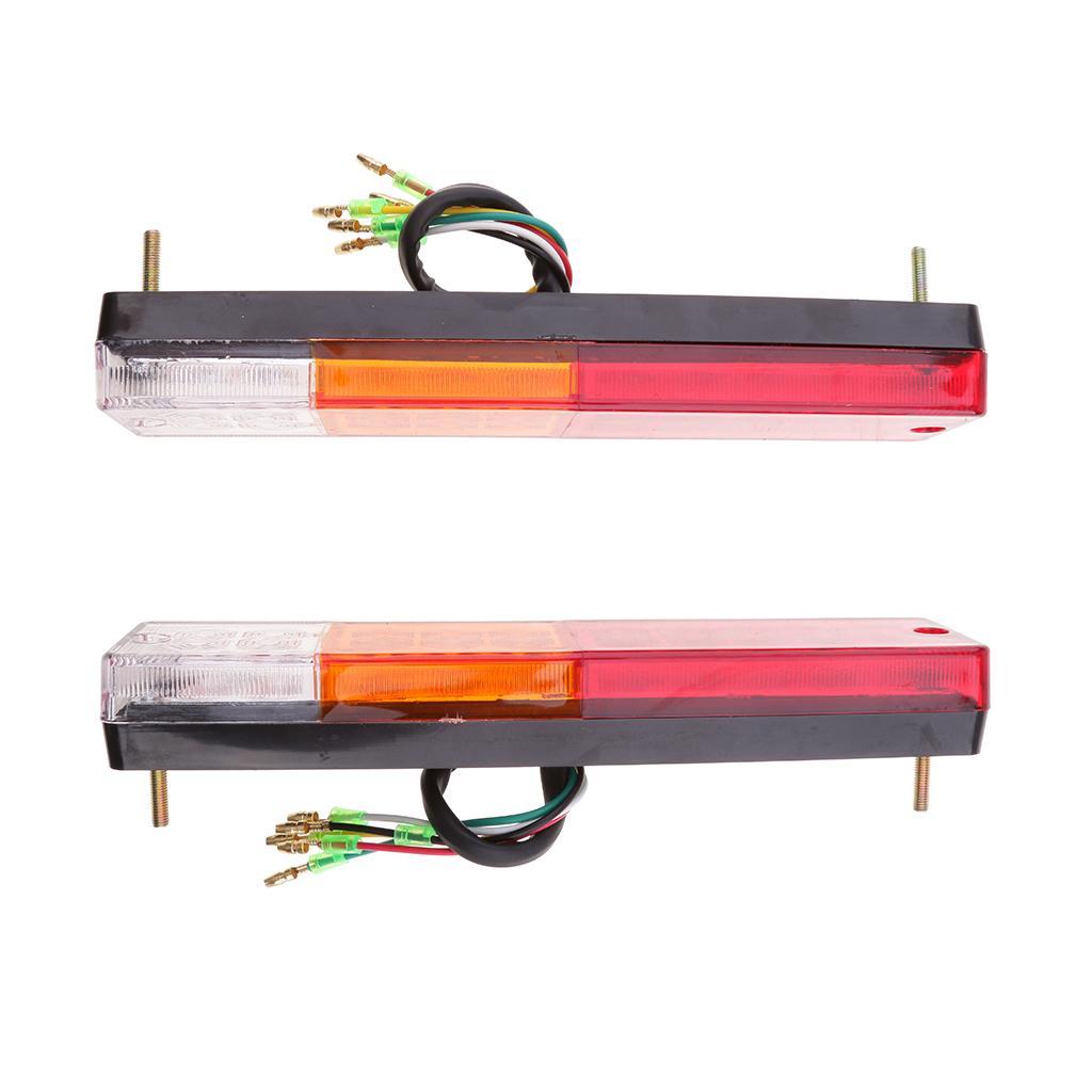 1 Pair 20 LED Car Rear Tail Lights Brake Stop Indicator Truck Houseboat