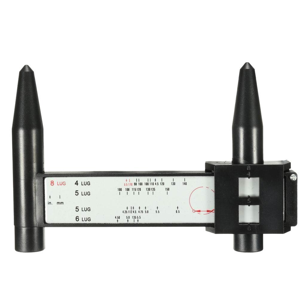 Car 8 Lug PCD Steel/Alloy Wheel Spacer Measuring Gauge Tool Hand Held