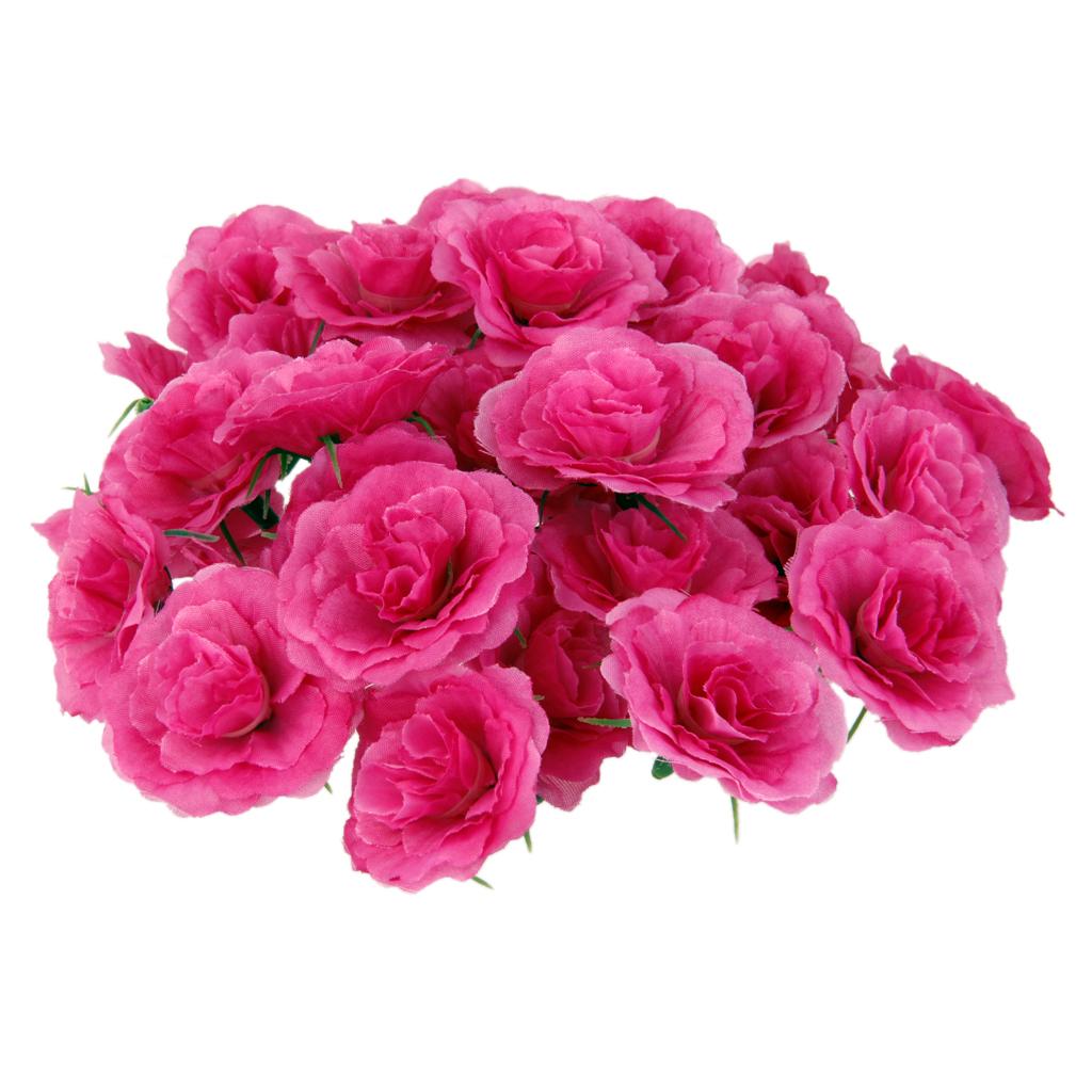50pcs artificial silk fake rose flower heads bulk wedding party decor rosy free shipping. Black Bedroom Furniture Sets. Home Design Ideas