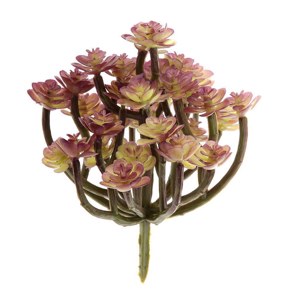 Artificial Succulent 13-Branch Cactus Flower Foliage Plastic Plant Decor