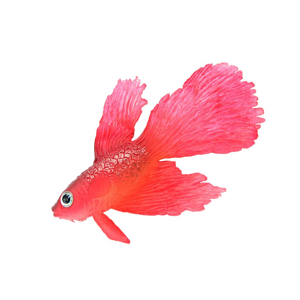 Artificial silicone soft glowing effect betta aquarium for Betta fish decor