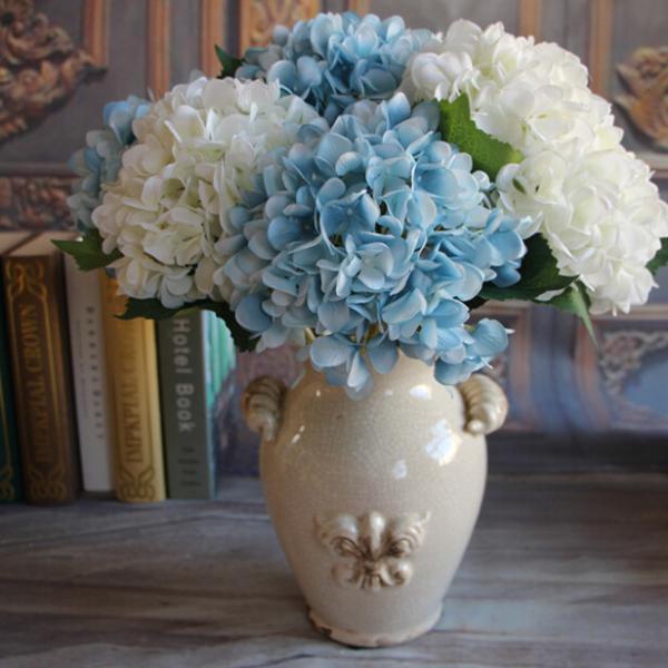 Artificial Hydrangea Flower Silk Plant Wedding Party Garden Decor Blue
