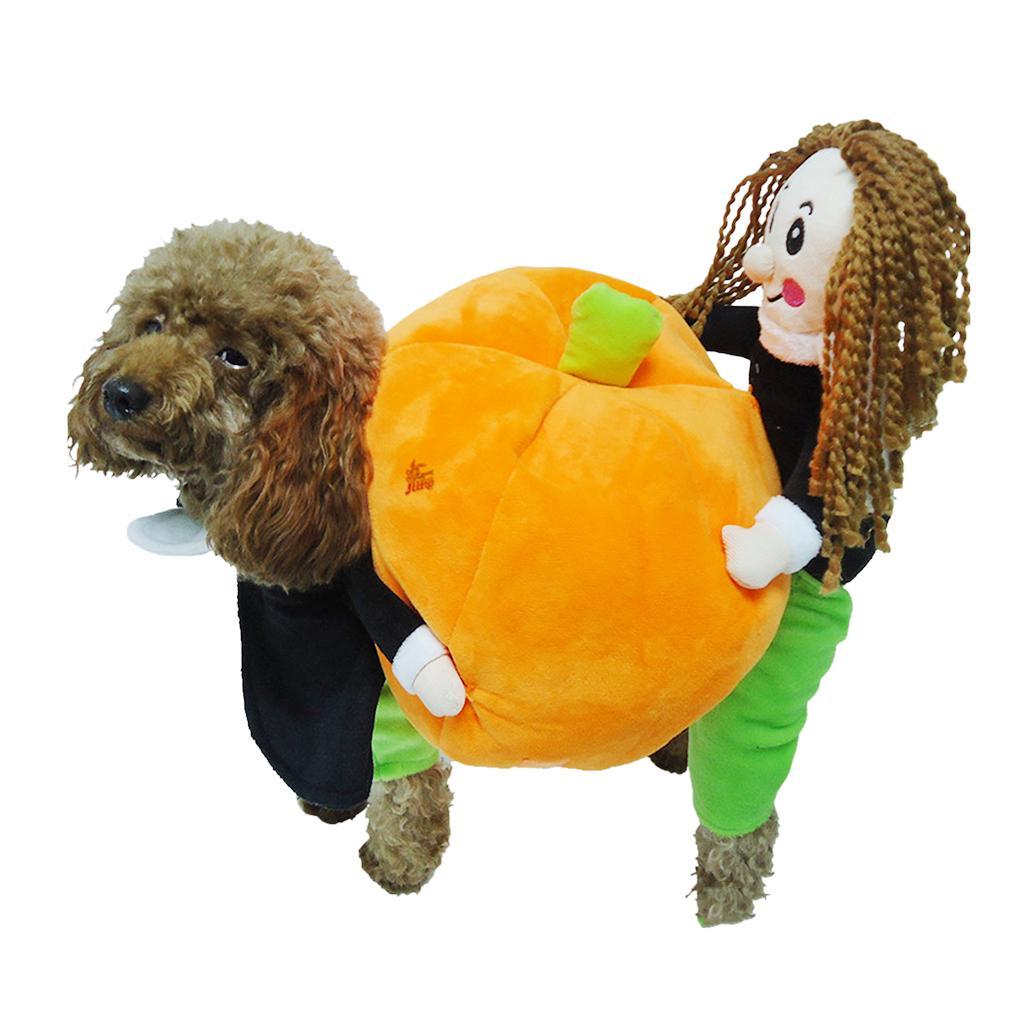 Pet Dog Cat Warm Clothes Fancy Pumpkin Costume Puppy Apparel Coat Jacket S