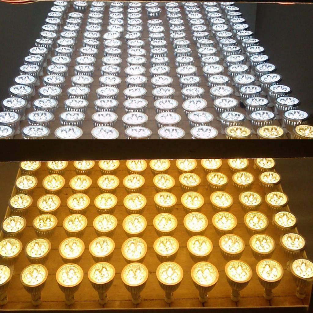 Ultra Bright 12V 3W MR16 LED COB Spot Down Light Lamp Bulb Silver