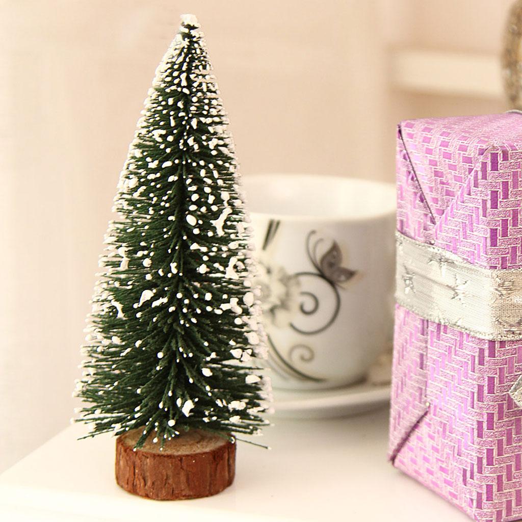 20cm Xmas Mini Artificial Christmas Tree Festival Party Ornaments Decor Gift