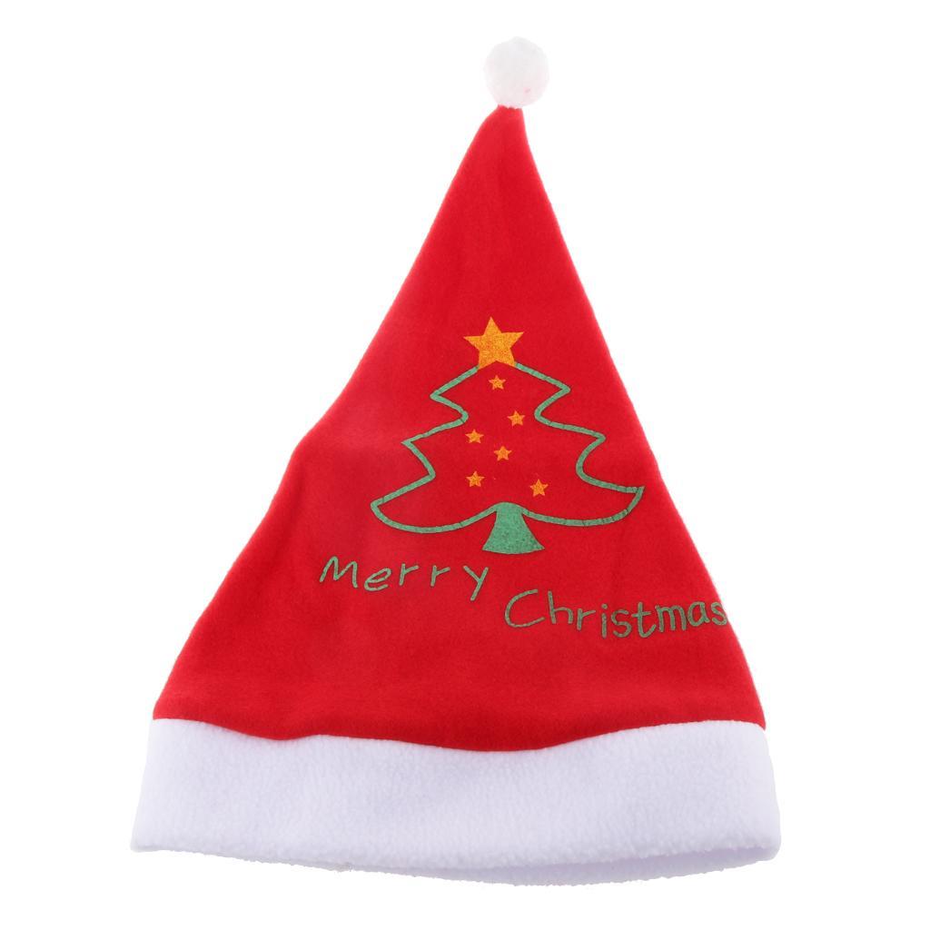 Adults Unisex Plush Fluffy Christmas Xmas Novelty Hat Cap Santa Party Wear