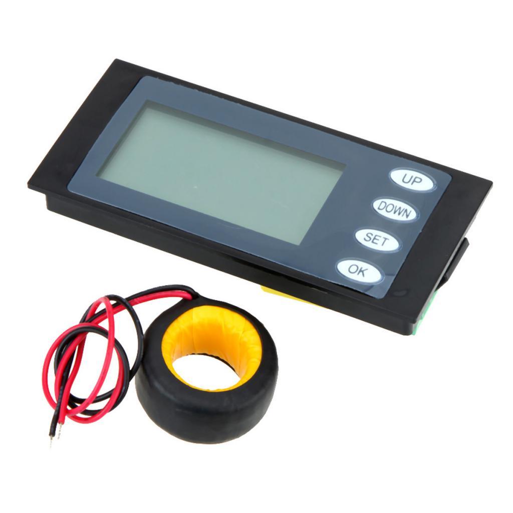 AC 100A LCD Digital Power Meter KWh Time Watt Voltmeter Ammeter with CT