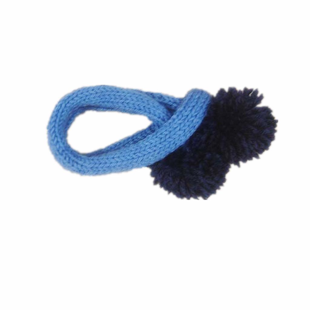 Pet Dog Cat Puppy Winter Christmas Bandana Neckerchief Scarf Collar Blue S
