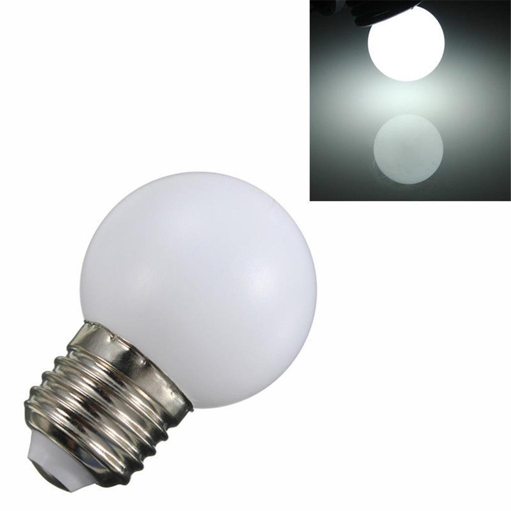 220V E27 1W Energy Saving LED Golf Ball Light Bulb Party Globe Lamp White