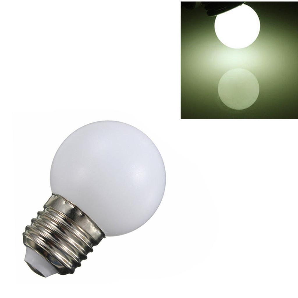 220V E27 3W Energy Saving LED Golf Ball Light Bulb Globe Lamp Warm White