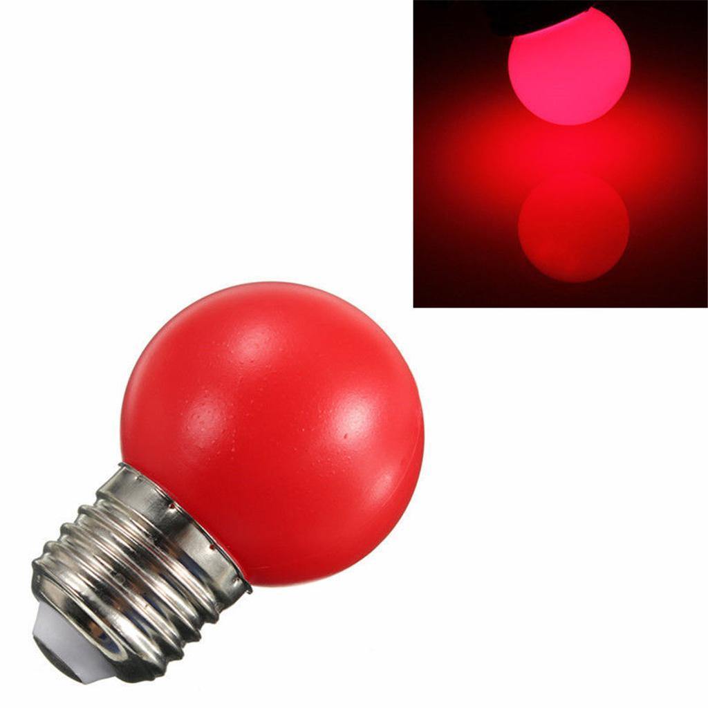 220V E27 3W Energy Saving LED Golf Ball Light Bulb Party Globe Lamp Red
