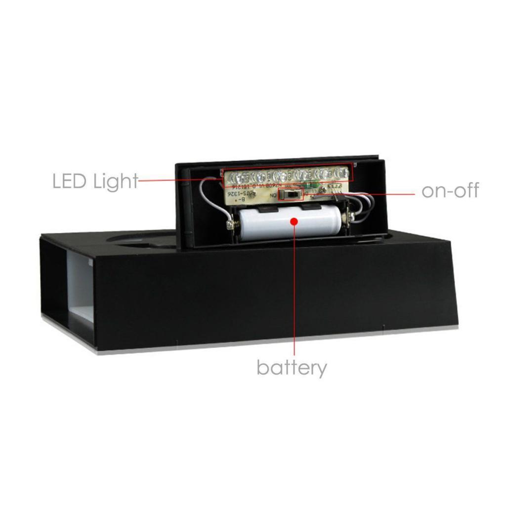 solar power 6 led light sign house hotel door plaque digit. Black Bedroom Furniture Sets. Home Design Ideas