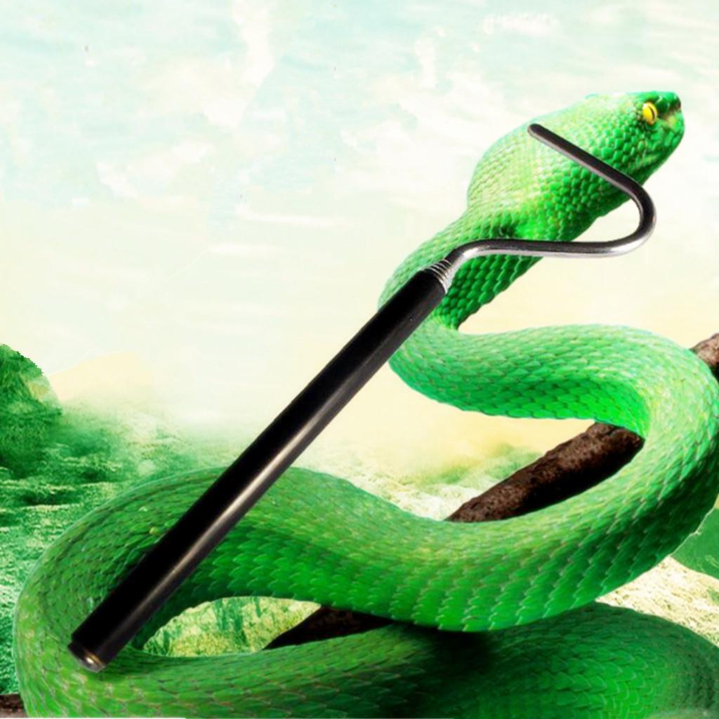 66cm Steel Telescoping Pocket Snake Reptile Herp Safe Hook Handle Tool