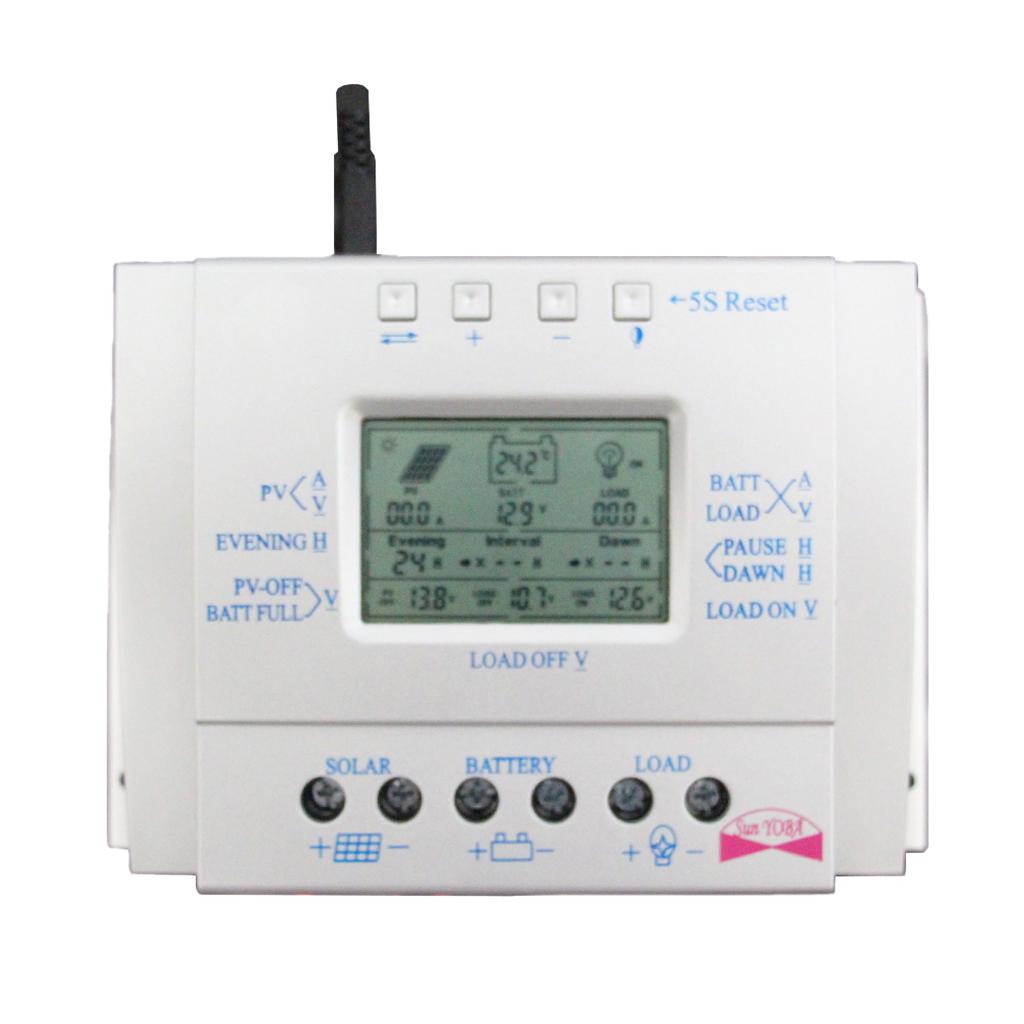 60A 12V/24V LCD Solar Panel Controller PWM Charging Battery Regulator