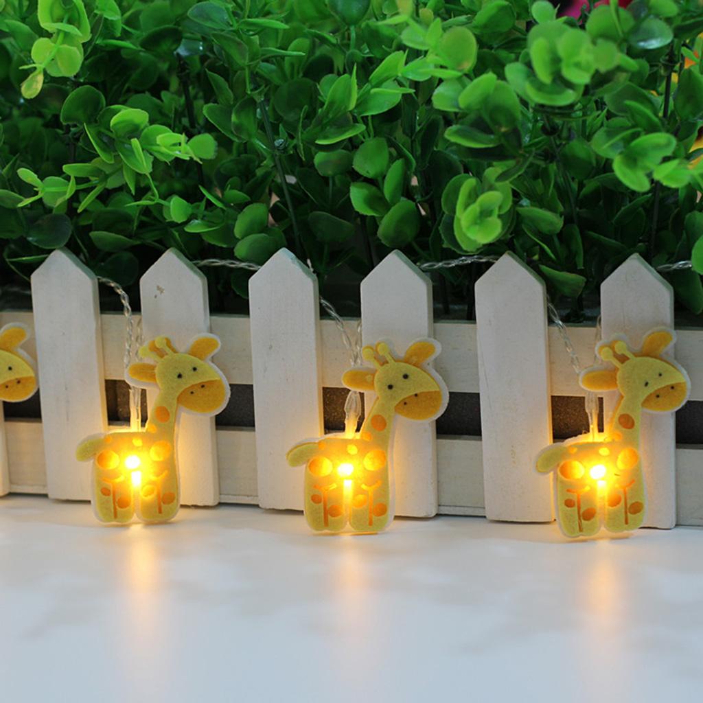10 String Battery LED Twinkle Light Deer Shape Fairy Lights Xmas Party Decor
