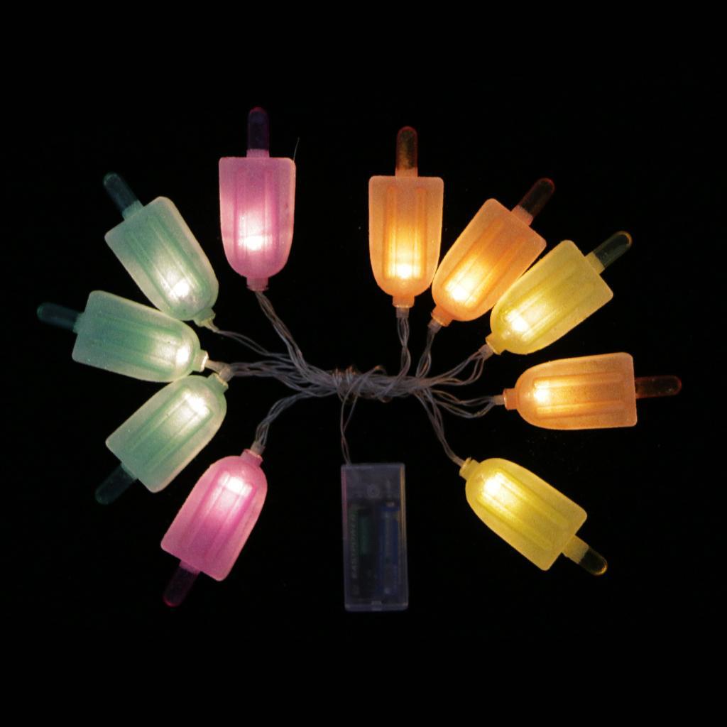 10-LED Ice Cream Fairy String Light Party Strip Lamp Christmas Wedding Decor