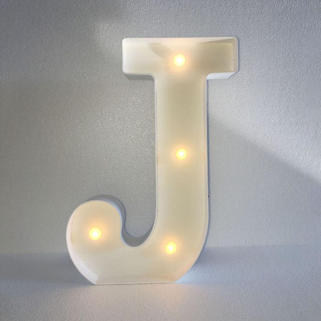 12inch White LED Letter Light Vintage Circus Style Alphabet Light Up Sign J