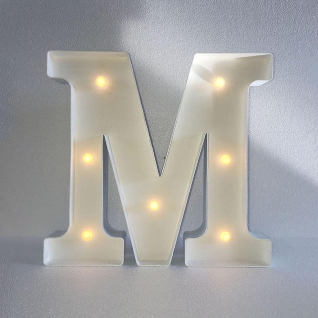 12inch White LED Letter Light Vintage Circus Style Alphabet Light Up Sign M