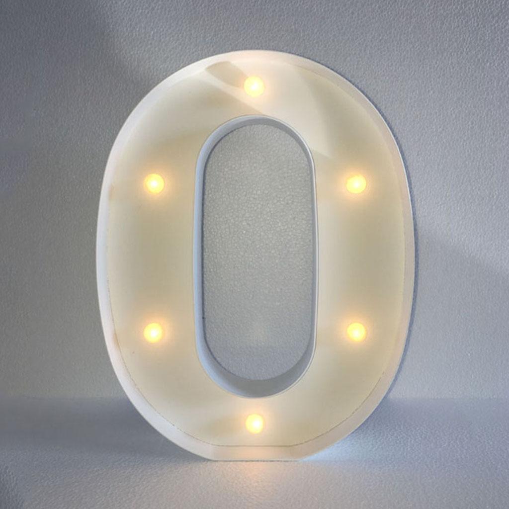 12inch White LED Letter Light Vintage Circus Style Alphabet Light Up Sign O