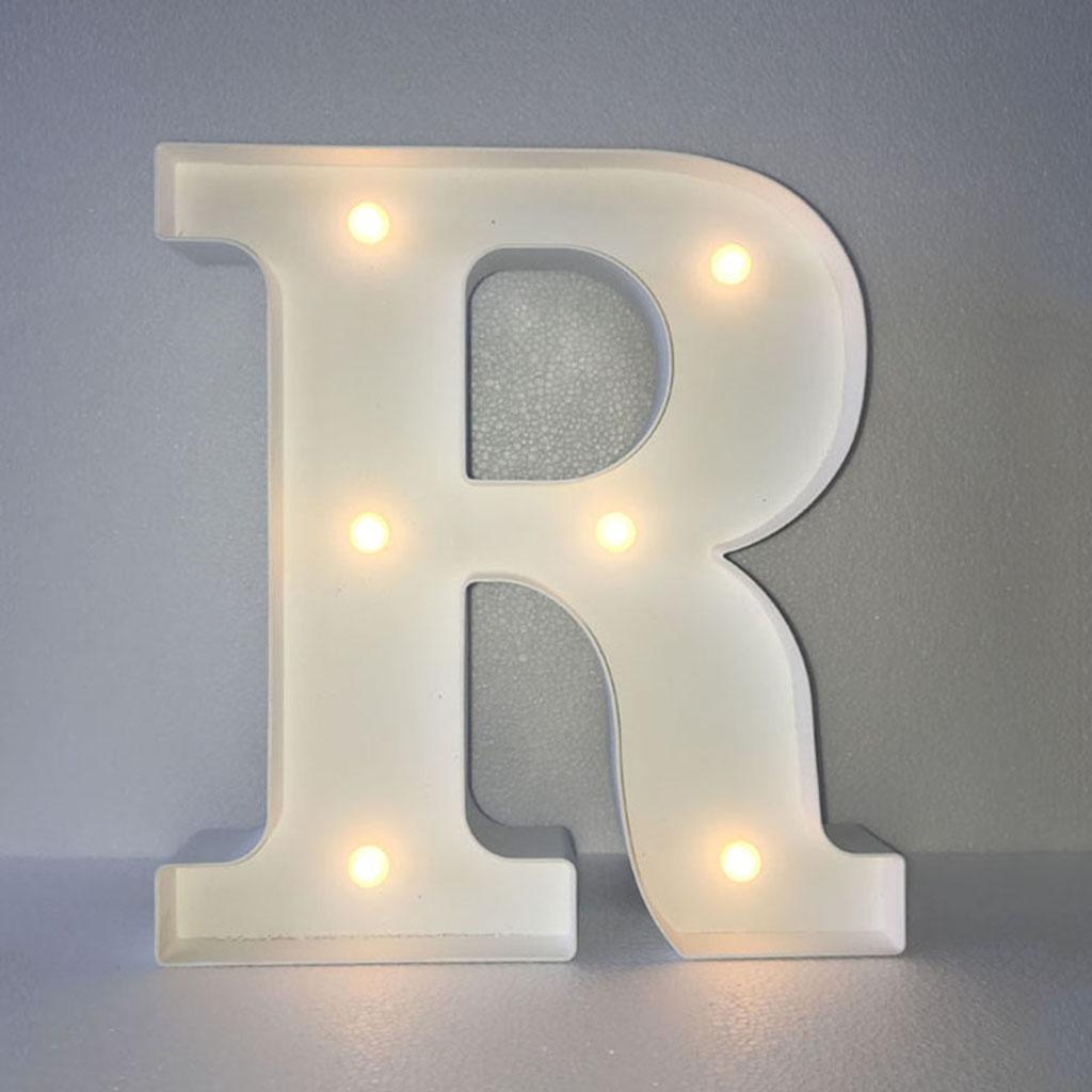 12inch White LED Letter Light Vintage Circus Style Alphabet Light Up Sign R