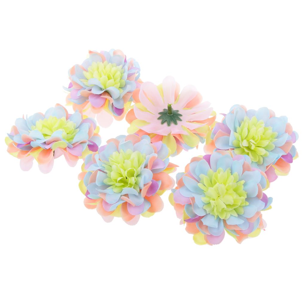 20Pcs Artificial Silk Blossom Flower Heads Home Wedding Party Decor Multi