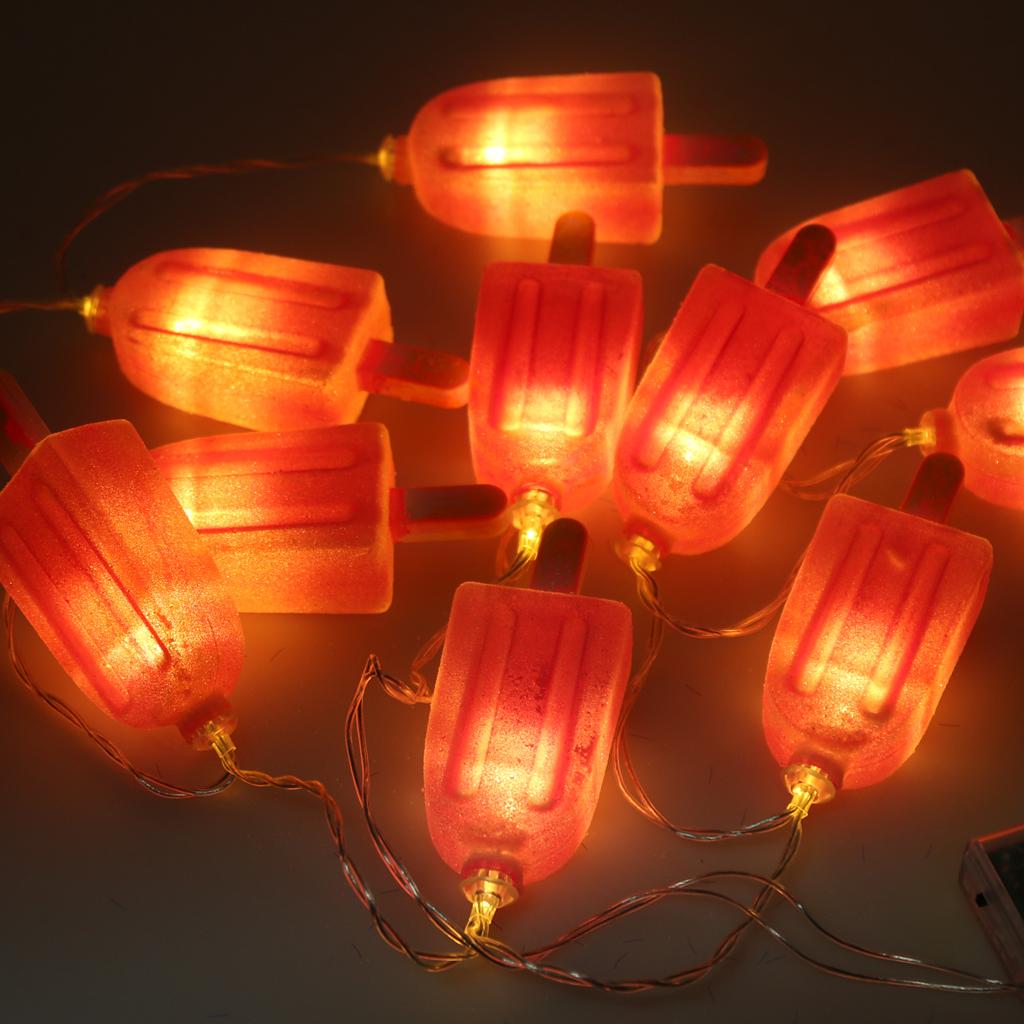 Popsicle String Light Strip Lamp 10-LED Christmas Decor Warm White
