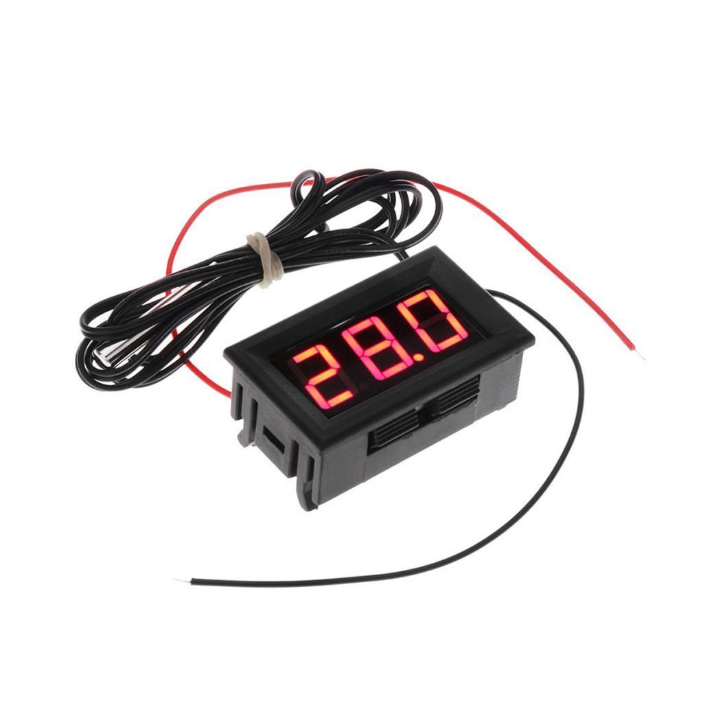 LCD Digital Fridge Aquarium Temperature Display Testers Thermometers Red