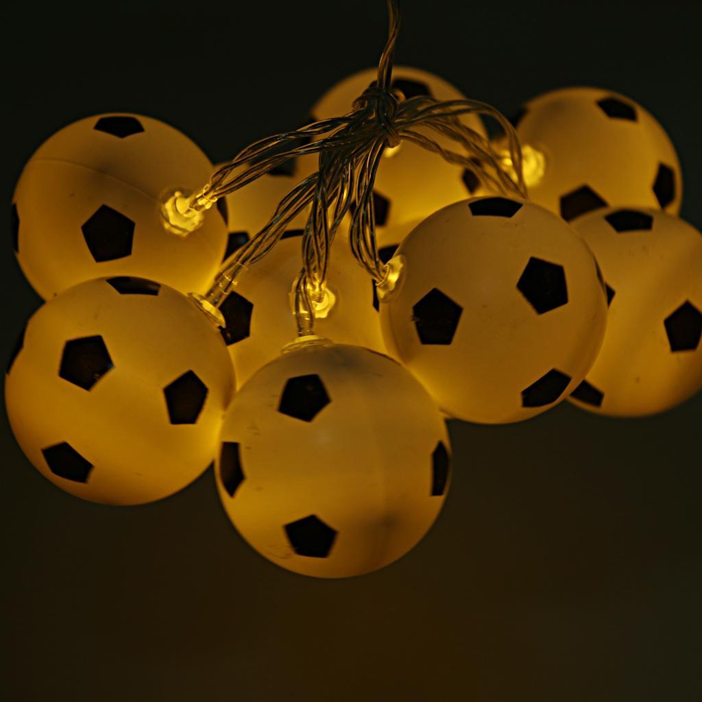 Football Shape String Light Strip Lamp 10-LED Christmas Decor Warm White