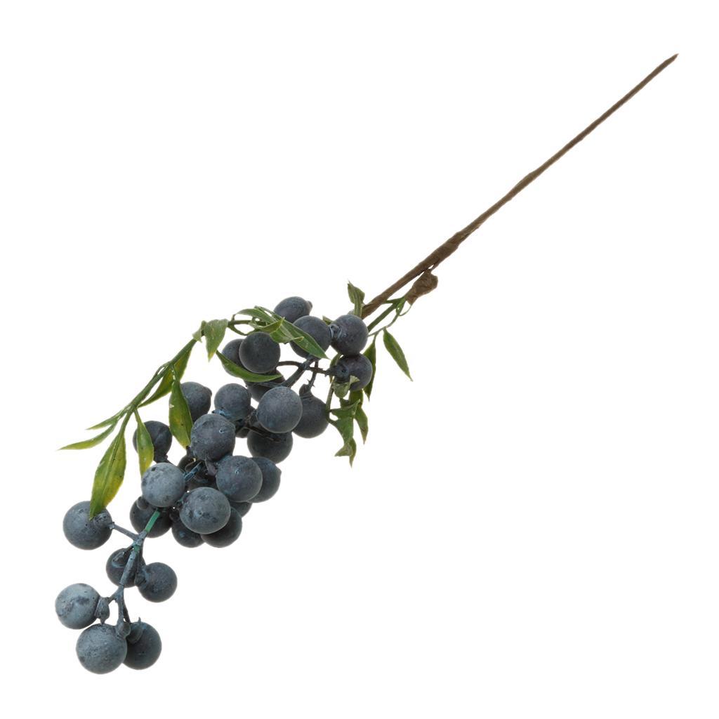 1Piece Artificial Plant Flower Fruit Berries Bouquet Home Decor Blueberry