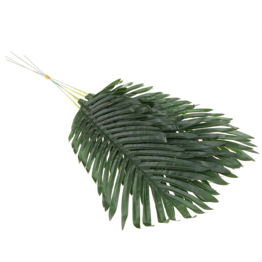 5-Pieces Large Artificial Leaf Faux Foliage Leaves DIY Decor Palm Leaf