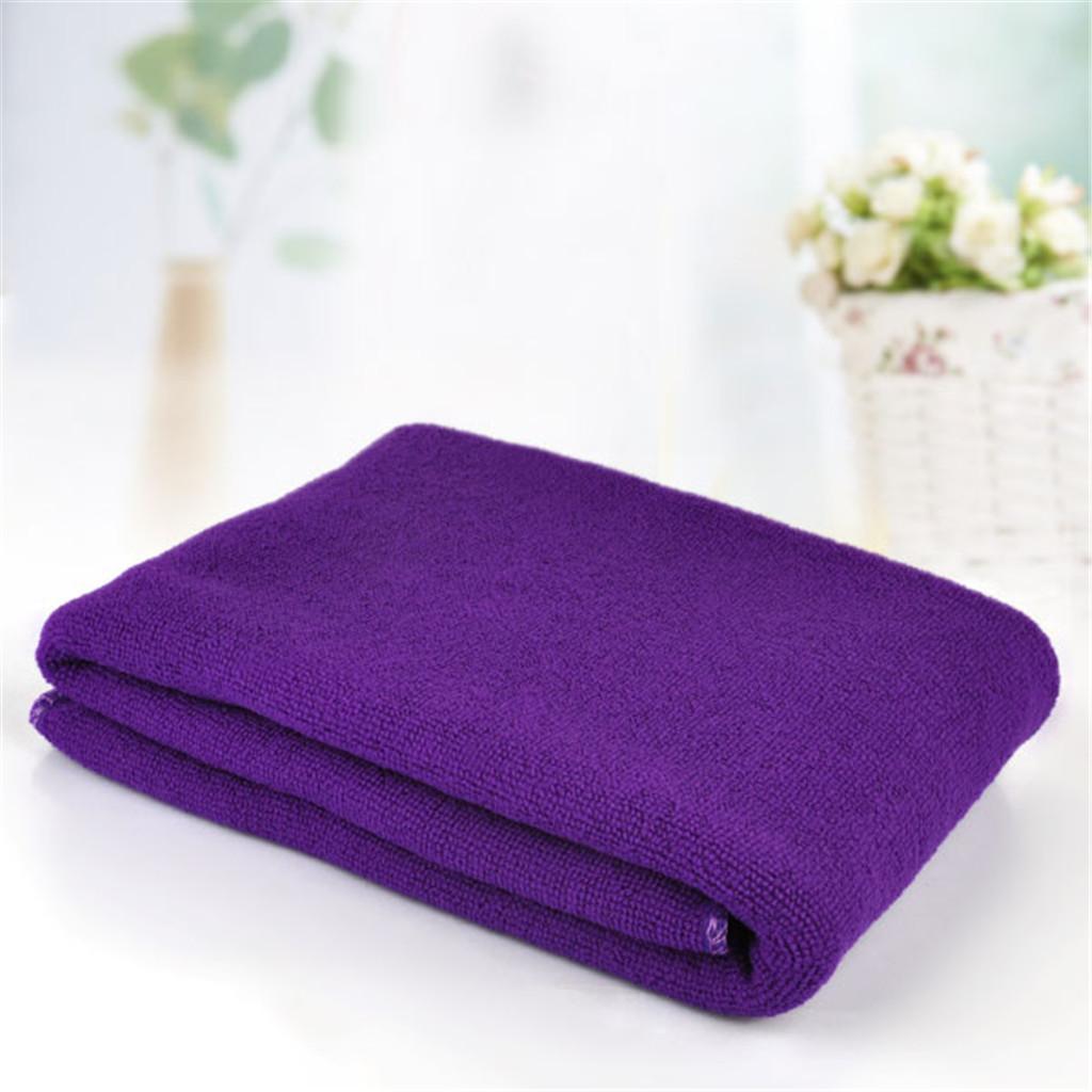Microfiber Towel Sports Bath Quick Dry Travel Swim Beach Drying Dark Purple