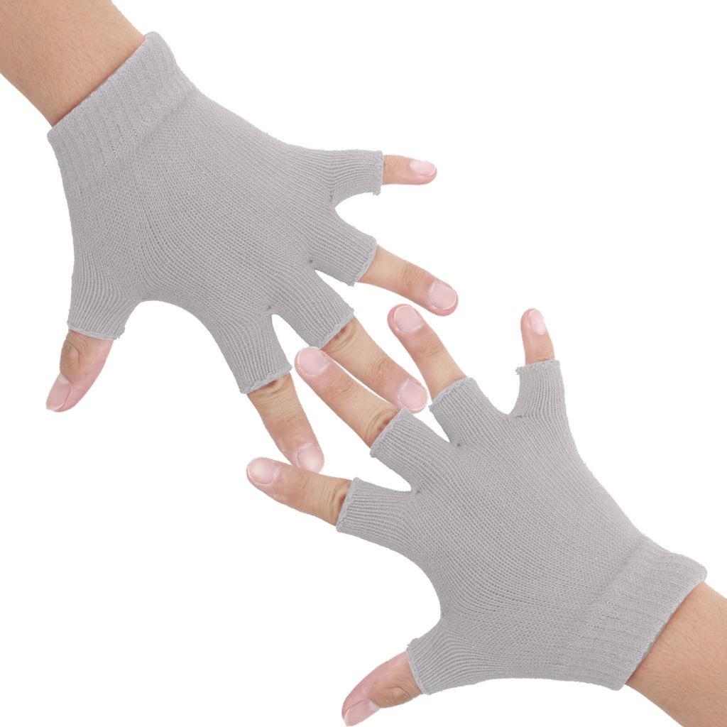 Gym Fitness Body Building Training Sports No-slip Yoga Pilates Gloves Gray