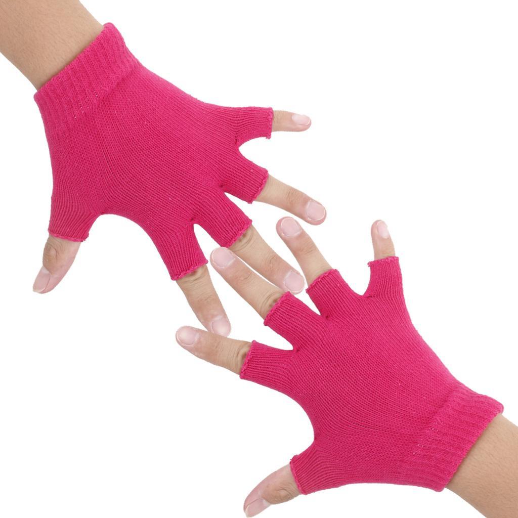 Gym Fitness Body Building Training Sports No-slip Yoga Pilates Gloves Red