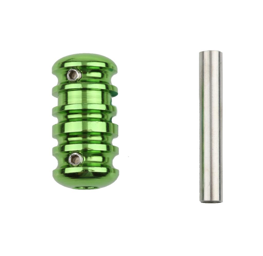 Aluminum Alloy Tattoo Machine Grips Tube Anti-slip Gun Handle Stem Green